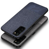 For Samsung Galaxy S20 Case Bakeey Anti-fingerprint Cotton Cloth PU Leather Protective Case