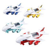 Children's Large Inertial Airplane Toys Early Education Sound Light Story Airplane Set