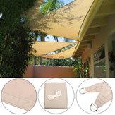 3 × 3 × 3 متر ضد للماء مثلثات في الهواء الطلق فناء كانوبي فناء حمام سباحة أكشاك الستائر تظليل UV ظلة صافي المظلة الرئيسية حديقة ديكور
