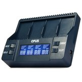 Opus BT-C900 Smart Battery Charger Digital 4 Slots LCD Display 9V 9V Li-Ion Charger Adapter EU/US Plug For 26650 18650 18500