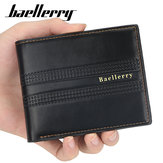 Baellerry Men Faux Leather Fashion Wallet With 6 Card