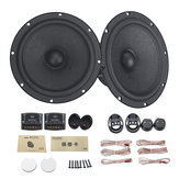 6.5 Inch 100W Car Audio Component Speaker System 2 Way Subwoofer Tweeter