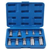 10 Stücke 12 Punkt Triple Square Spline Socket Manipulationssichere 4-18mm Werkzeuge Satz