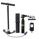 DIDEEP 0.5L Mini Scuba Diving Tank Oxygen Cylinder with Air Pump Respirator Bag Safety Leash Set Of Accessories Oxygen Cylinder Refill Adapter