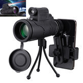 IPRee® MLS-L1 40x60 Monocular HD Optic BAK4 Day Night Vision Led Laser Flashlight Telescope With Tripod Phone Holder