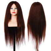 26'' 90% Real Human Hair Mannequin Head Hairdressing Training Head Model Salon