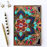 DIY Diament Malarstwo Haft Notatnik A5 Notatnik Jednorożec Motyl Kwiat Snow Man Projekt Specjalny kształt Ręcznie malowany Skórzana okładka Cross Stitch Świąteczne prezenty dla przyjaciół