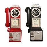 Decorazioni figurine figurine cabine telefoniche nere 30 cm quadrante nero telefono quadrante modello statua