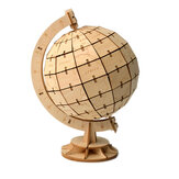 3D Wooden Globe Puzzle Blocks Assembly DIY Model Toys Wood Craft Desk Decor
