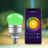 AC100-264V E27 9W RGBW RGBCW WIFI Smart LED Glühbirnen-Arbeit mit Sprachsteuerung für Zuhause Wohnzimmer Tischlampe