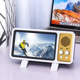 Retro TV Design 3D Phone Screen Magnifier Mini bluetooth Speaker Cell Phone Holder