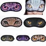 Cat Animal Eye Printed Sleep Masks Eye-shade Aid Sleeping