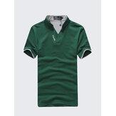 Solid Color Classic Color Splicing Collar Golf Shirt