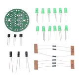 5pcs DIY Green LED Round Flash Electronic Production Kit Component Soldering Training Practice Board