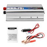 الشمسية القوة العاكس 1000 واط صحيح تيار منتظم 12 فولت إلى ac 220 فولت USB تعديل شرط موجة محول سيارة القوة العاكس شاحن محول