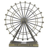 Retro Metal The London Eye Ferris Wheel Ornament England Building Home Office Creative Desktop Decorations Model Souvenirs Gifts