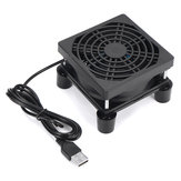 8CM Router Cooling Fan 5V USB Set-Top Box Notebook Cooling Rack With Foot Pad