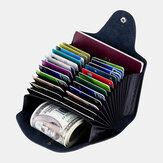 Men Genuine Leather Multi Card Holder Wallet