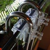 2pcs Suporte de tubo de acrílico Suporte de fixação do filtro de tanque de peixes de aquário Gancho