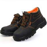 أحذية للجنسين الصلب تو السلامة عدم الانزلاق أحذية العمل ضد للماء مكافحة تحطيم