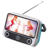 Retro Mini bluetooth Speaker TV Design Mobile Phone Stand Holder Cute Bracket