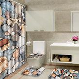 180x180 cm Colorful Vintage Salle De Bains Rideau De Douche Toilette Couverture Tapis Plage Style