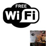 Наклейка с логотипом Wi-Fi Съемный для украшения и напоминания наклейки на стены черный