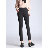 High Waist Stretch Pencil Pants