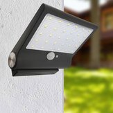 Solar Powered 30 LED PIR Motion Sesnor Waterproof Street Security Light Wall Lamp with Magnet Base for Outdoor Garden