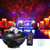 Multicolor giratorio LED Proyector Lámpara Star Night Light Music bluetooth con controlador Control remoto