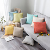 Linen Throw Pillow Case Cushion Cover Seat Sofa Waist Case Home Bedroom Decoration