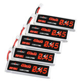5Pcs URUAV 3.8V 450mAh 80C/160C 1S Lipo Battery PH2.0 Plug for EMAX EZ Tinyhawk II 75mm Tiny7 Happymodel Snapper7