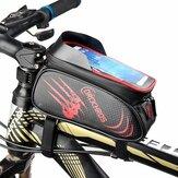 DRCKHROS自転車フレームフロントバッグ防水5.5インチ電話バッグMTBロードサイクリング自転車ポーチ収納袋