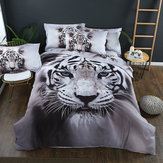 Tiger Bedclothes Animal Print Bedding Set Quilt Duvet Cover Pillowcase Bedding Sets