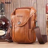 Hommes en cuir véritable sac à bandoulière sac à bandoulière sac de téléphone sac de ceinture de taille pour l'extérieur