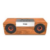 Smalody Wireless Bluetooth V5.0 TWS Houten luidspreker Stereo Portable Outdoor Sound Box Subwoofer Computer PC Soundbar TF FM-radio