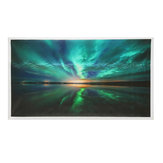 Teal Northern Lights Stampe su tela Dipinti Picture Wall Home Decorazioni d'arte
