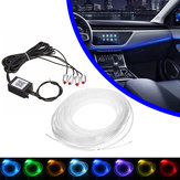 4/5 In 1 LED RGB Car Decoration Atmosphere Lights bluetooth Control Interior Ambient Optical Fiber Lights Lamp