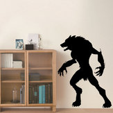 Miico FX3022 Halloween Sticker Wall Sticker Werewolf Pattern Removable Sticker For Room Decoration