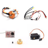 5PCS Feiyue Upgraded Brushless Kit Motor ESC Servo Receiver Gear for FY03 FY03H FY05 Vehicles