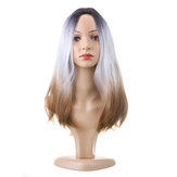"""cabelo 26 """"270g de Comprimento Sintético Cabelo Peruca Ombre Ajustável Cinza"""