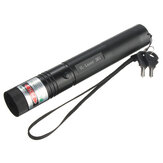 10 Mile 532nm Green Laser Pointer Pen PPT Laser Page Pen Light Juster 5mw + 18650 batterilader