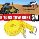 Remorque de secours de voiture de corde de traction de voiture de 5M avec remorquage de corde de treuil de remorquage de voiture 16000KG