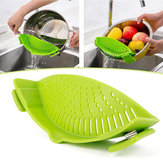 IPRee® Durable Silicone Pan Strainer Colanders Wash Fruit Vegetables Pasta Kitchen Tools Gadgets