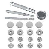 8pcs 15mm/12.5mm Duty Snap Fasteners Popper Press Stud Button With Fixing Kit