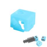 XCR-NV6 Alüminyum Isıtma Bloğu Silikon 3D Yazıcı için Çorap Koruyucu Kılıf Hotend Meme