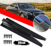 2 X Universal Gloss Black of Carbon Fiber Style Car Side Rok Rocker Splitters Canard Diffuser Winglet Wings