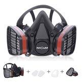 ハーフフェイスガスマスク呼吸器塗装安全作業フィルターダストマスクを噴霧