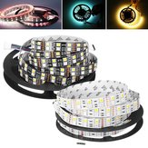Doble filas flexible no impermeable SMD5050 RGB + WW 5M 600LED Strip Light para sala de estar interior decoración del hogar DC12V