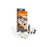 VISBELLA Leder Vinyl Reparatur Satz Kleber Farbpaste Autoreparatur Sitz Kleidung Boot Rrip fix Rissschnitte mit 10 Stücke Patch Versiegelungen
